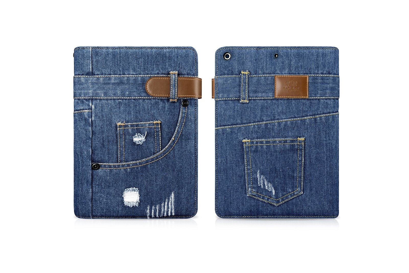 New iPad 9.7 in (2017) Case,New iPad 2017 Release 9.7 inch Case,Canvas Denim [Jeans Style] Slim Folio Smart Cover, Lightweight Smart Case with Stent Stand for iPad 9.7-inch by drool