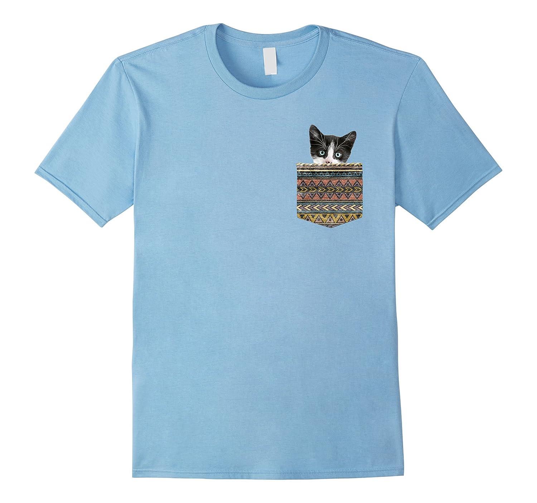 Cute Kitten in Your Pocket - Fun Real Animals Cat Shirt-FL