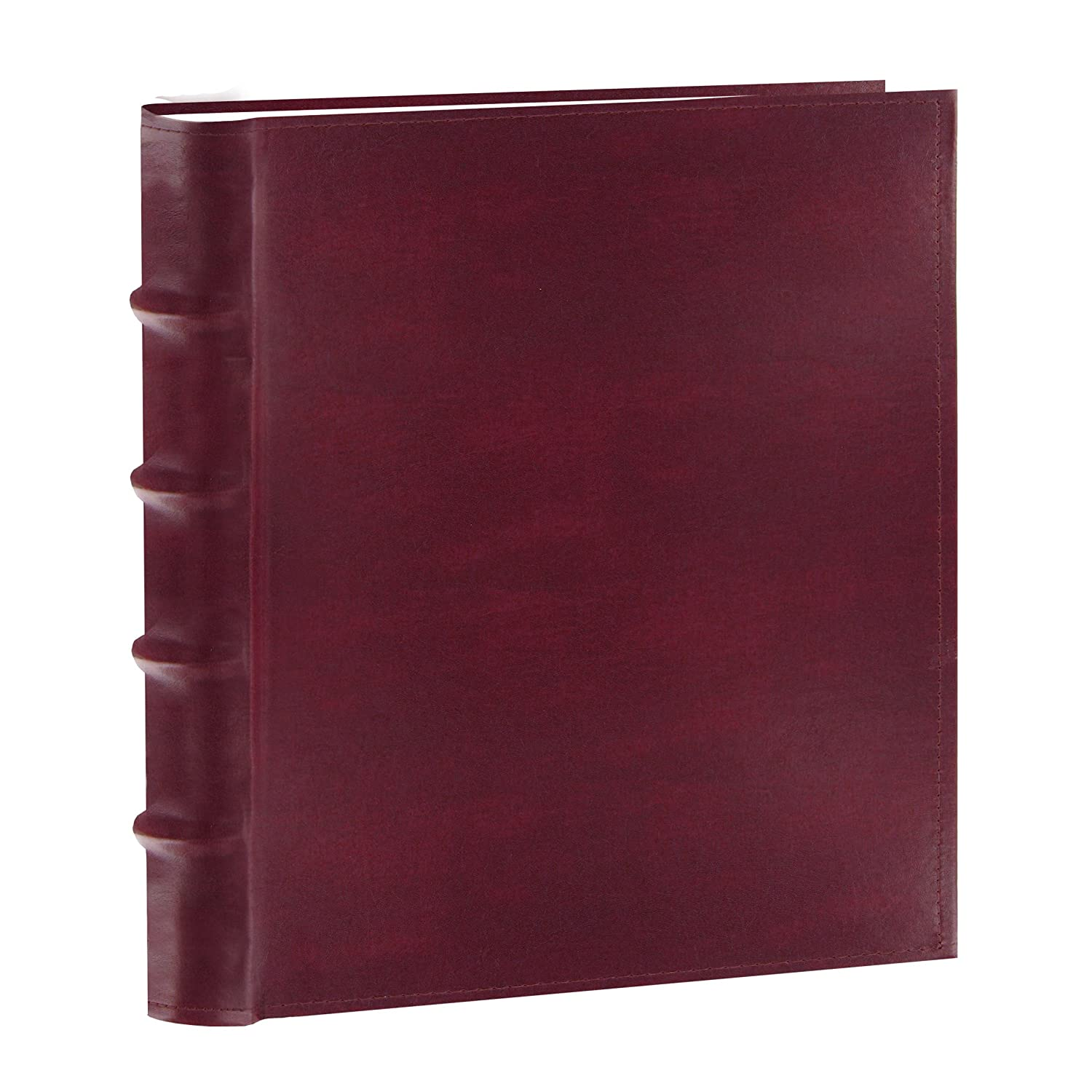 Pioneer Photo Albums 100-Pocket European Bonded Leather Photo Album for 4 by 6-Inch Prints, Burgundy CLB-146/BG