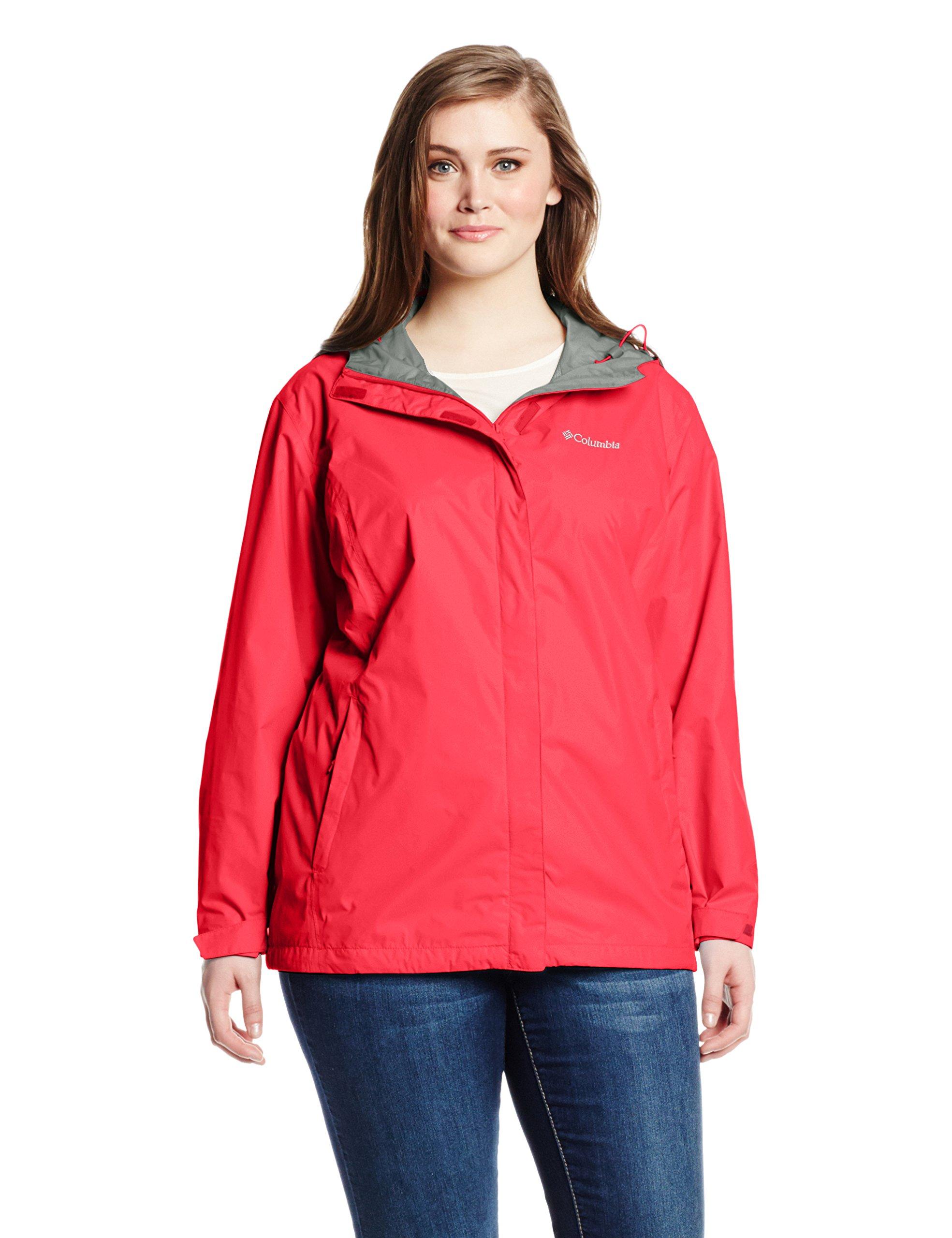 Columbia Women's Plus Size Arcadia II Jacket, Red Camellia, 3X