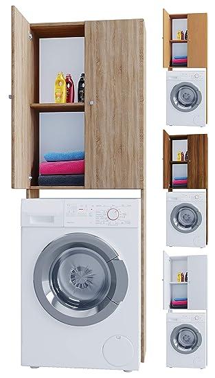 VCM Vandol V4 Waschmaschine, Holzstruktur, Weiß, Einheitsgröße