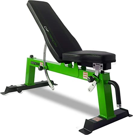 side facing cap barbell deluxe utility weight bench