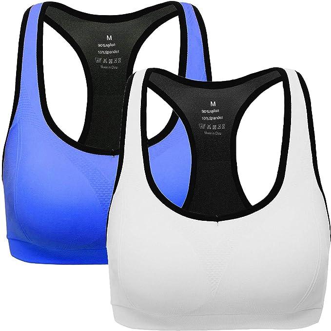 ANGOOL Sujetador Deportivo Almohadillas Extraíbles Yoga Run Bra para Mujer: Amazon.es: Ropa y accesorios