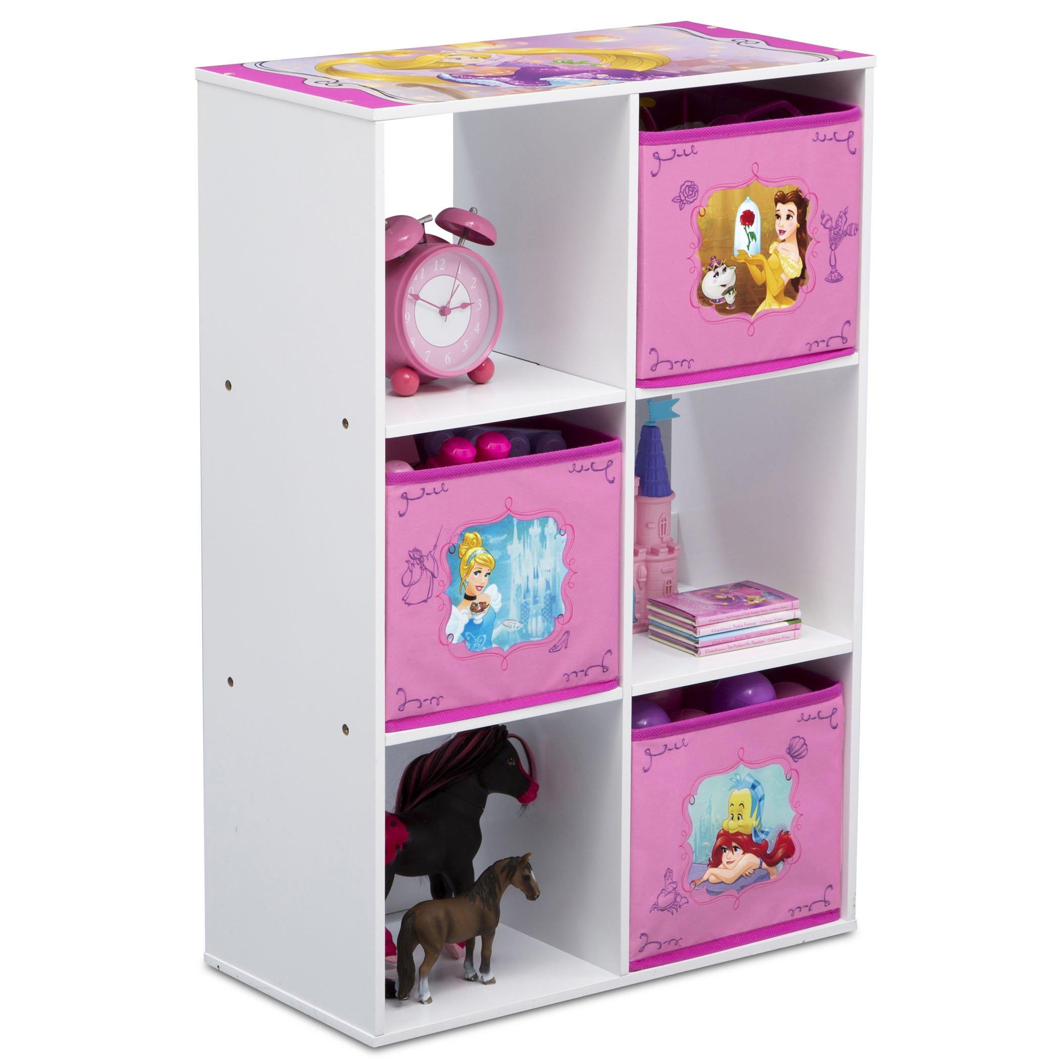 Delta Children 6 Cubby Storage Unit, Disney Princess by Delta Children (Image #3)