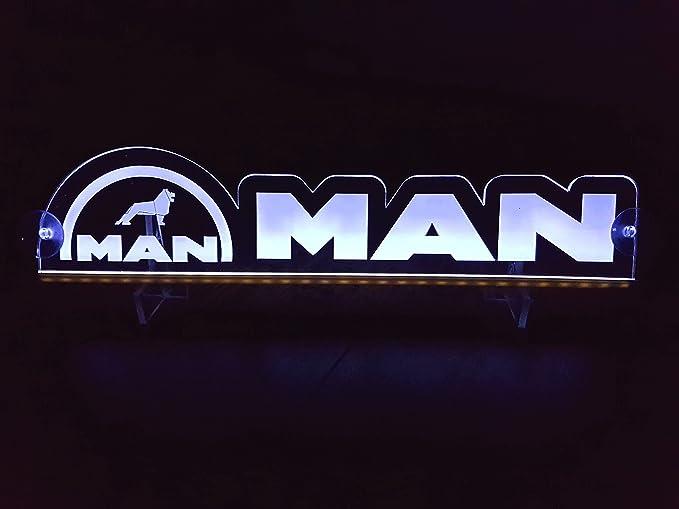 Other 24/Volt Lampadina LED Targa per Camion Truck Trucker conducente Bianco Logo Cabina Accessori Accessori Decorazione incisa a Laser 24/V//5/W