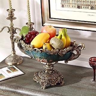 KHSKX Placa de la Fruta Europea, Plato de Frutas de jardín Estilo Estilo Americano, tazón de Fuente Decorativo Frutas secas, Cesta de Aceite Pintado de Mano Retro