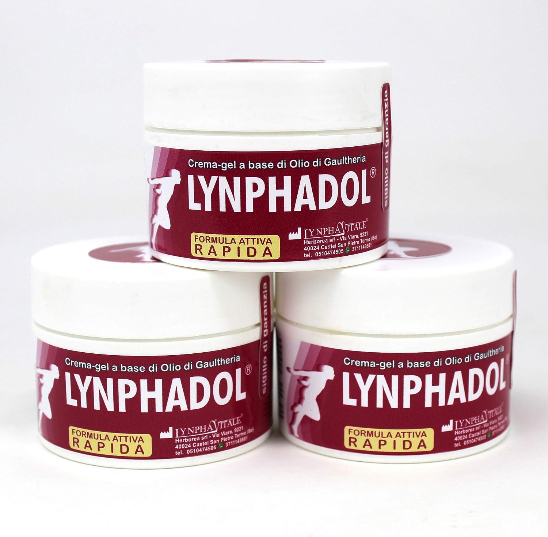 3 Paquetes de Lynphadol - remedio 100% natural para el dolor de espalda, dolor en las articulaciones, inflamación - 50 ml - Aceite esencial de menta, ...