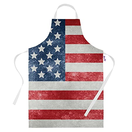 4323ef354d4 Printed Aprons for Men Funny USA American Flag Baking Gifts Kitchen Apron  Cooking Chefs Gift  Amazon.co.uk  Kitchen   Home