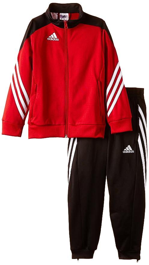 the latest 0fc25 2f291 adidas Sere14 PES su Y, Tuta Bambino, Nero Rosso Bianco, 152