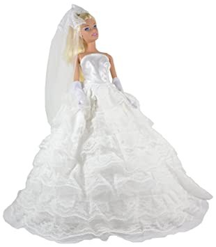 ADM 1013 - Vestido de novia romantica (sin muñeca)