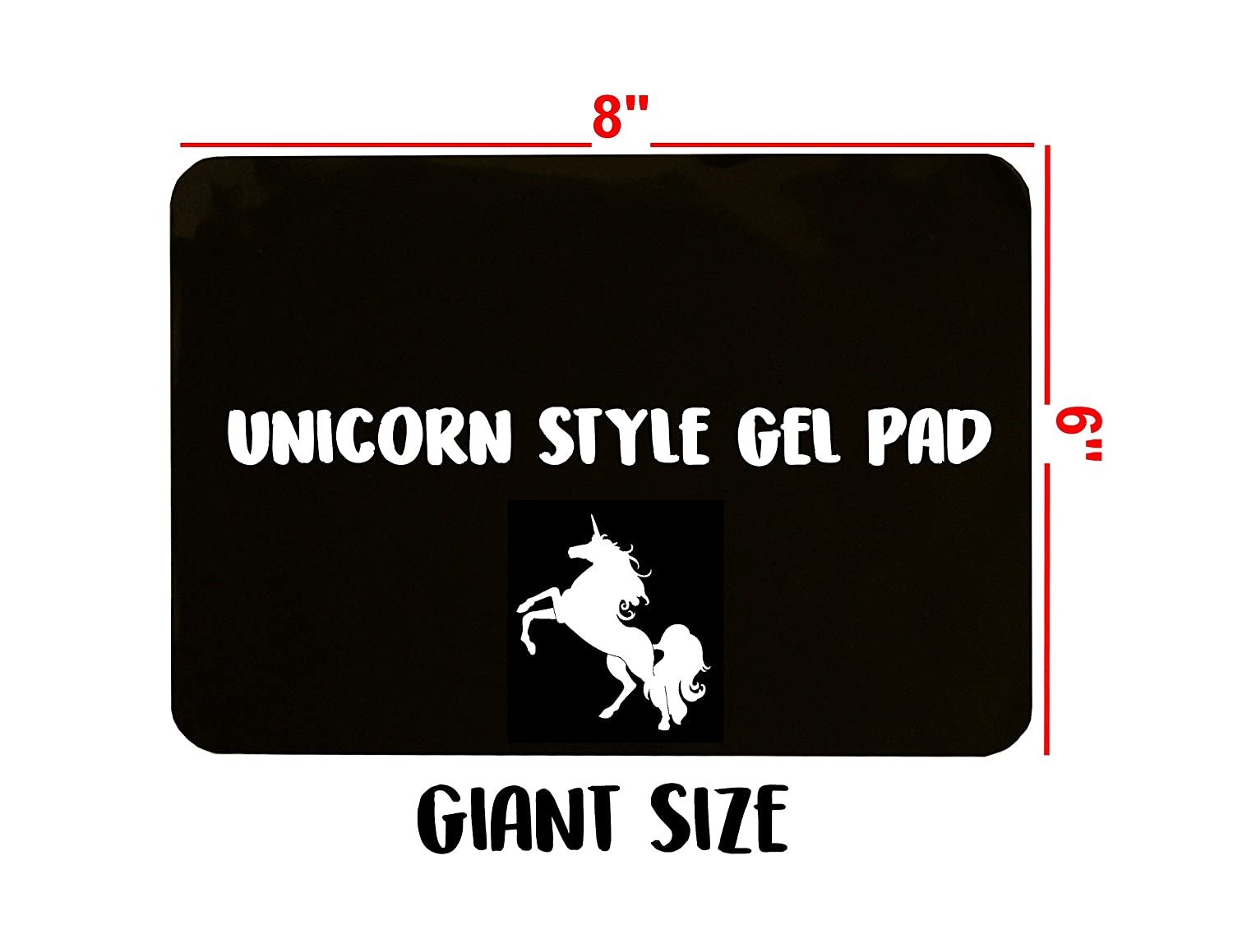Anti-Slip Gel Pads Unicorn Style co. Fixate Sticky Cell Pads Non-Slip Gel Mat Sticky Auto Gel Holder,Can Stick to Cellphone, Pad, Keys,Glass, Mirrors, Whiteboards, Metal (Black)