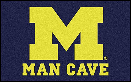 FANMATS 14671 University of Michigan Nylon Universal Man Cave UltiMat Rug