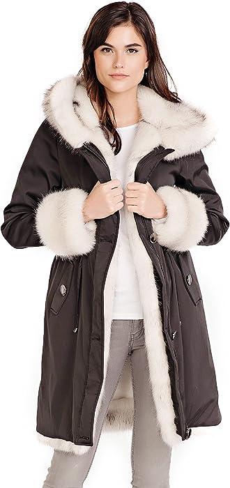 9ed539931 Donna Salyers' Fabulous-Furs Faux Fur Lined Knee-Length Coat (Black ...