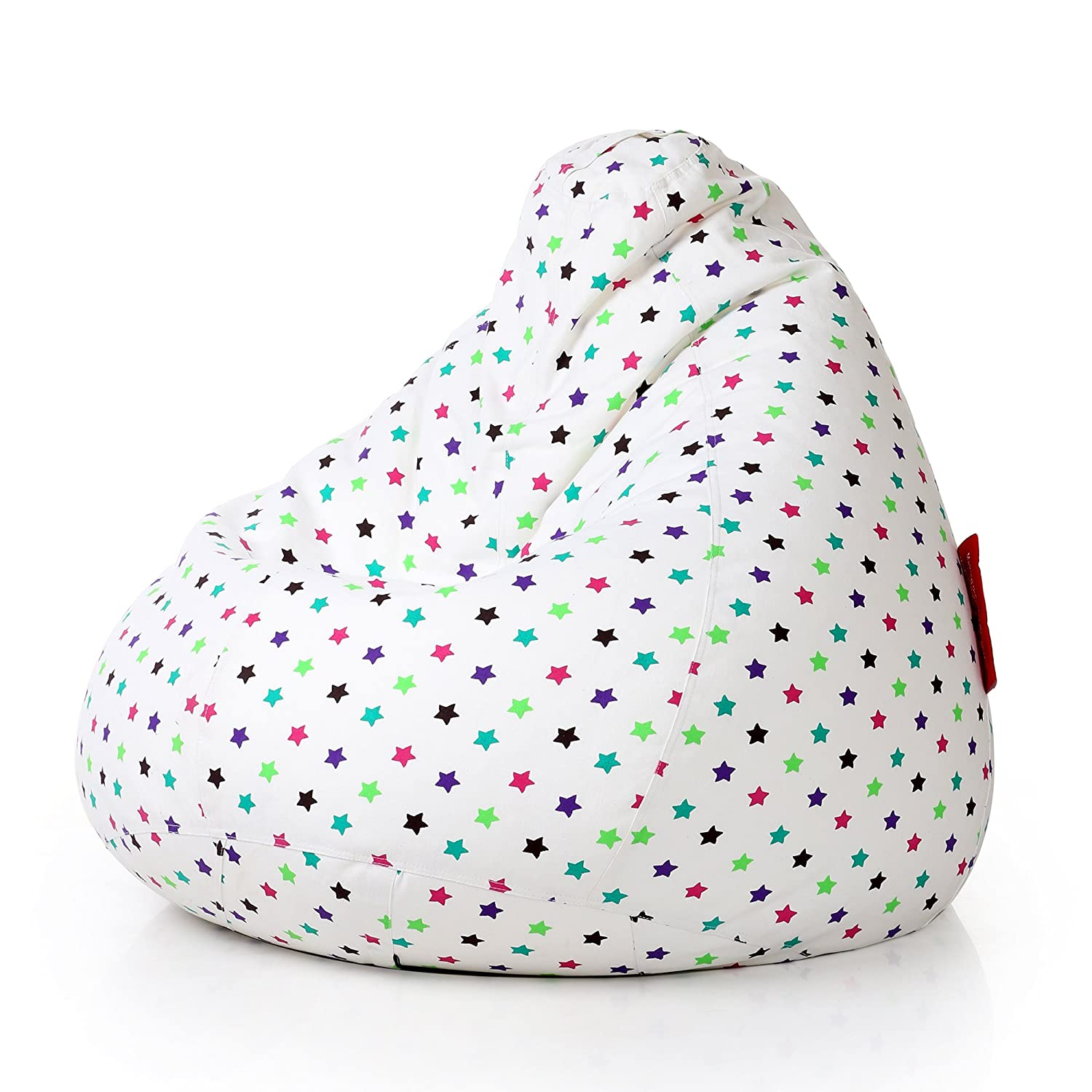 Style Homez Classic Cotton Canvas Star Printed Bean Bag XXXL Size Cover Only