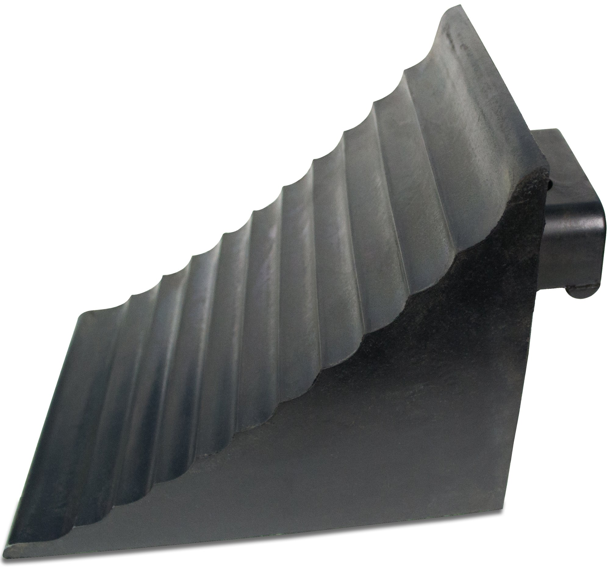 BUNKERWALL Extra Large Wheel Chock Block with Handle - Heavy Duty - Black Rubber 9.6'' x 7'' x 7.5'' by BUNKERWALL