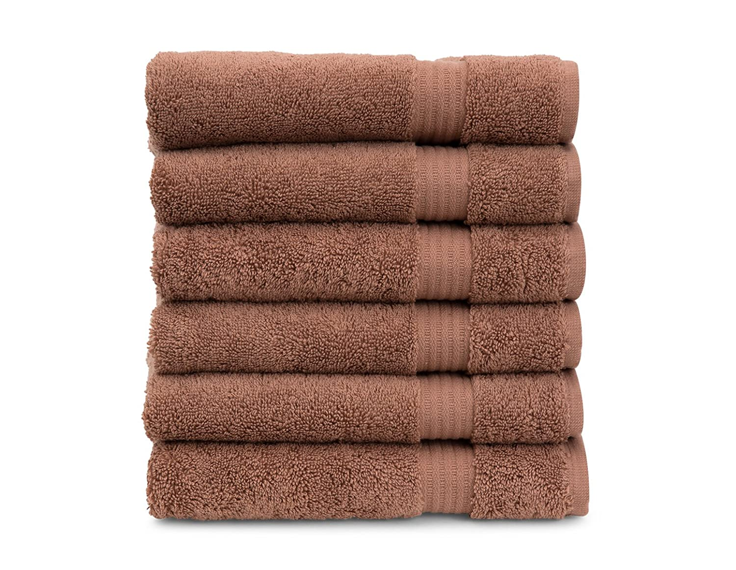 TowelSelections Blossom Collection Soft Towels 100/% Turkish Cotton Lead 6 Washcloths BLS-6WTW-LD