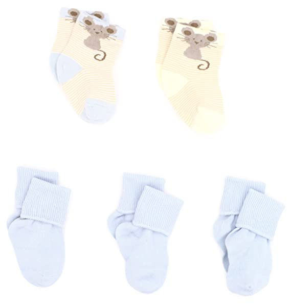 Country Kids Baby Boys Little Mouse Bootie 2 Pairs