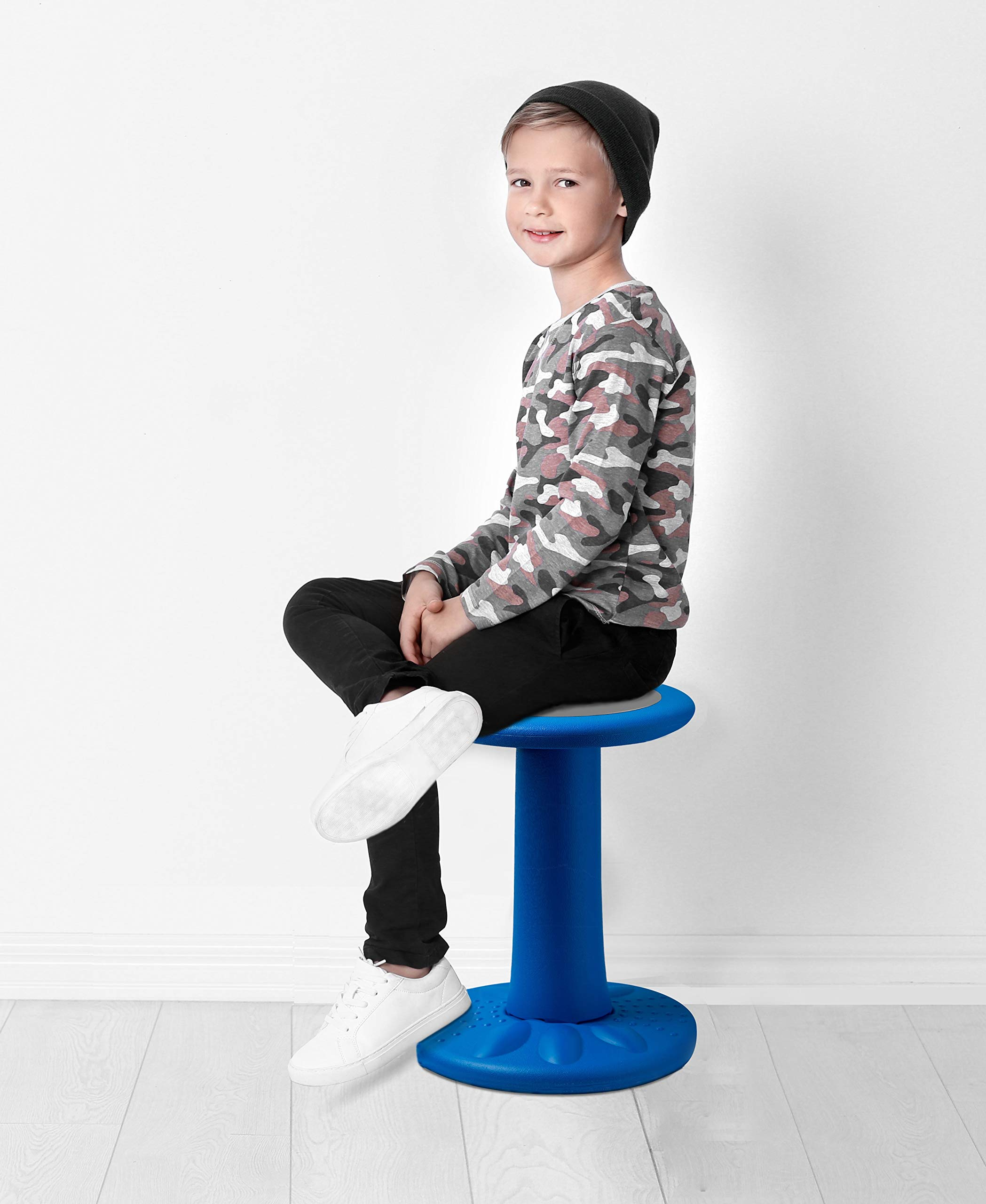 Active Kids Chair - Wobble Chairs Juniors/Pre-Teens (Grades 3-7) - Children Who Can't Sit Still - Great 17.75'' Wobble Chair Kids ADD/ADHD - Corrects Posture | Blue - Age Range 7-12y by Comfify (Image #5)