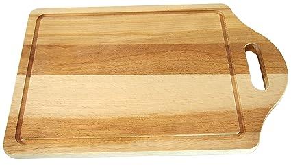 Tagliere da cucina, con foro per tenerlo appeso, in legno di faggio, 30,5 x  20 x 1,5 cm