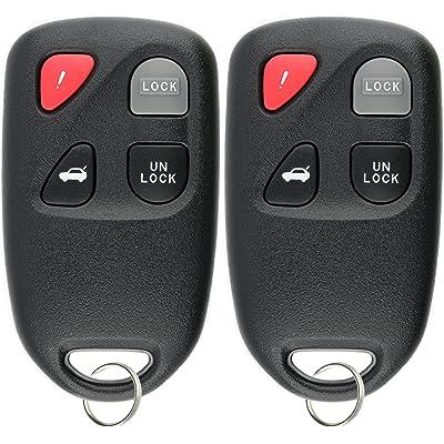 KeylessOption Keyless Entry Remote Control Car Key Fob for KPU41805 Model 41805 Mazda 6 (Pack of 2): Automotive