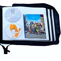 DVD CD Storage Case with Extra Wide Title Cover Pages for Blu Ray Movie Music Audio Media Disk (Portable Carrying Binder…