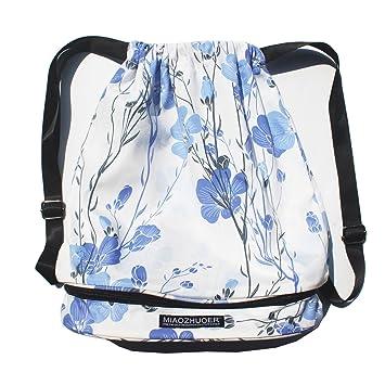 Amazon.com: Bolsa de playa, mochila de natación con cordón ...
