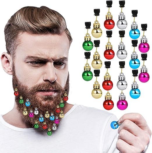 30pcs Beard Ornaments Shiny Facial Hair Clips for Christmas Holiday Events Party