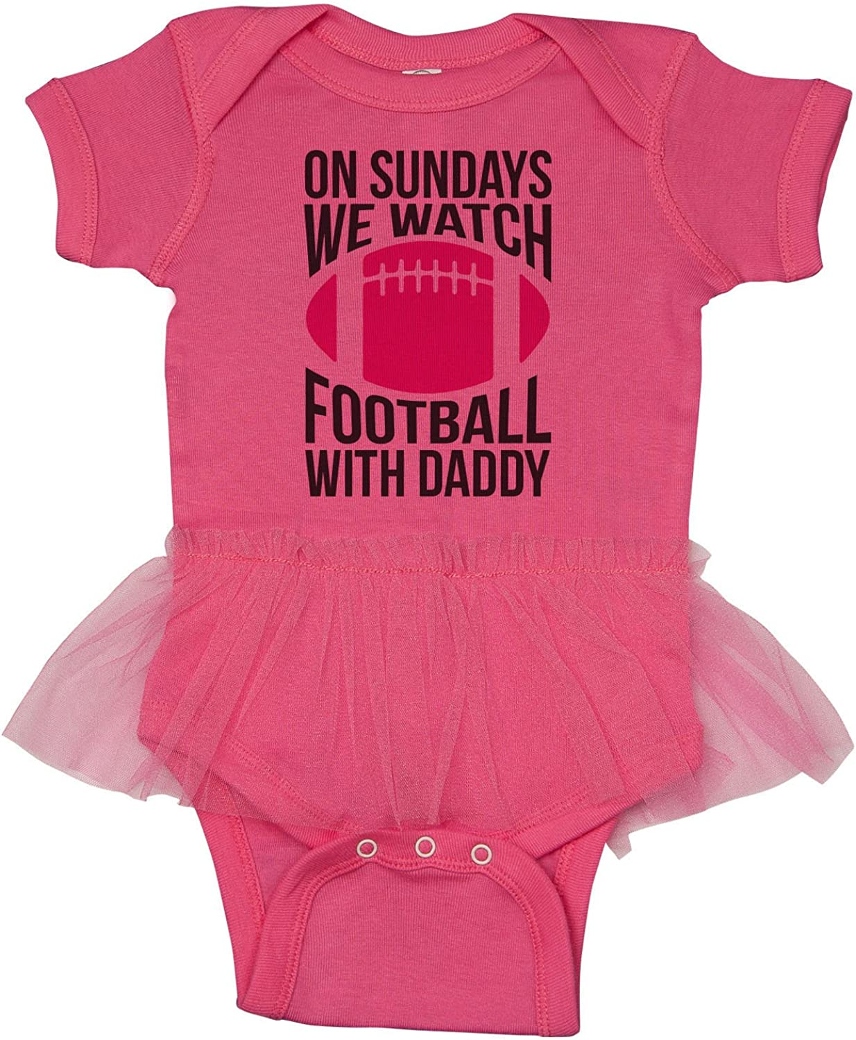 Sundays are for Football with Daddy Baby Girl Football outfit Saturdays are for Football with Daddy newborn football outfit