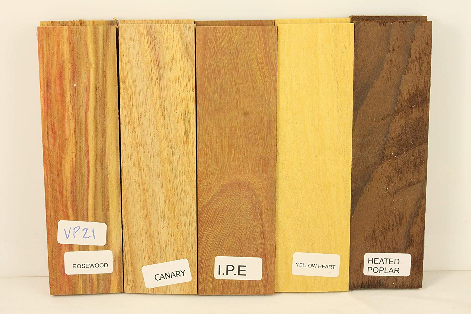 Variety Pack of 5 Wood Scales, Wood for Knife Making