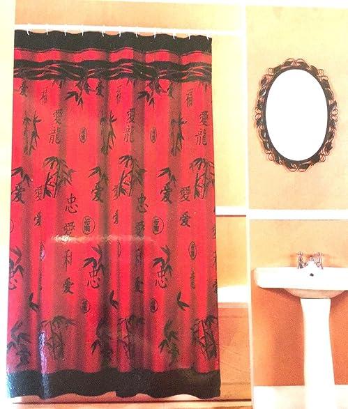 Perfect Asian Bamboo Fabric Shower Curtain