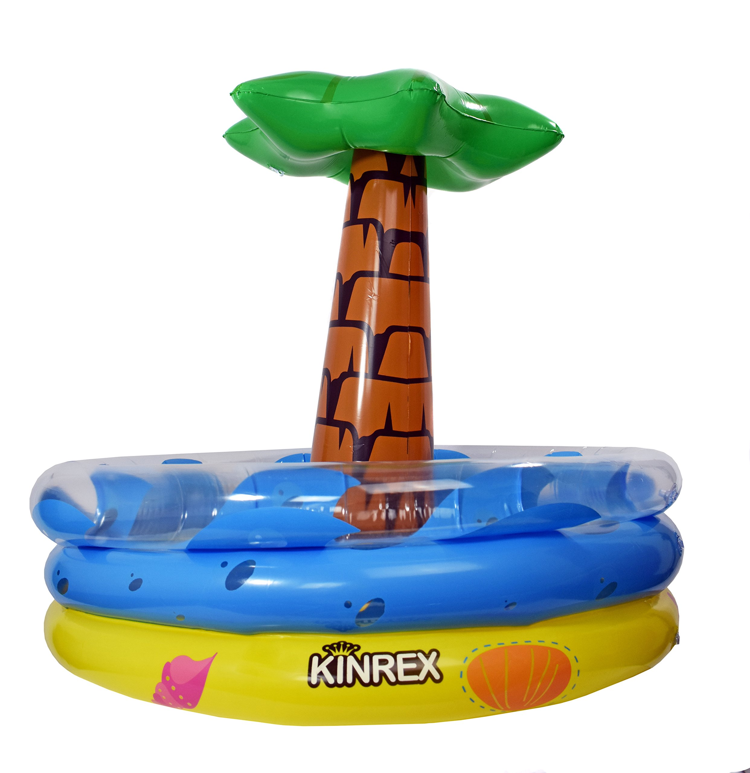KINREX Inflatable Palm Tree Cooler, Hawaiian & Luau Theme Party Decor, Perfect for Pool Party & Summer BBQ Party, Inflatable Bar Cooler ,Swimming Party Decoration Inflatable Chiller, Measures 25'' Tall