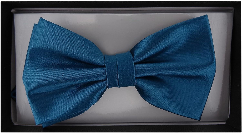 TigerTie Papillon Uni Satin confezione regalo fiocco circonferenza del collo regolabile da 30 cm fino a 50 cm