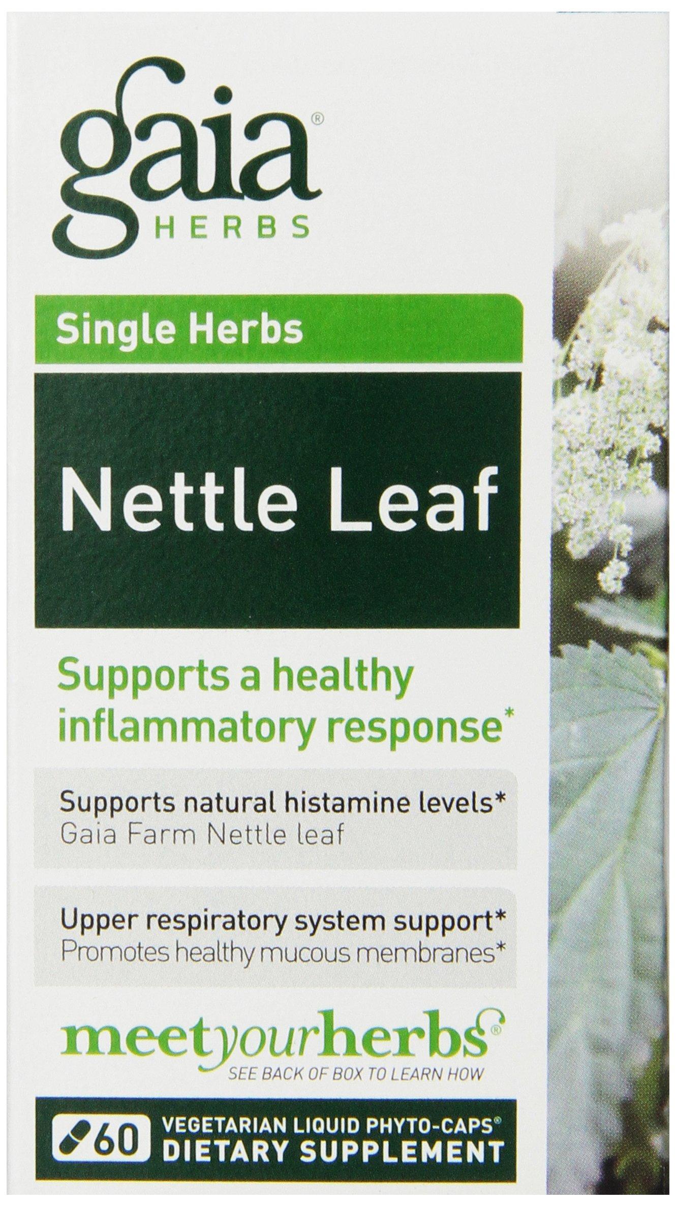 Gaia Herbs Nettle Leaf Liquid Phyto-Capsules, 60 Count
