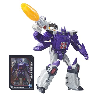 Transformers Generations Titans Return Nucleon and Galvatron: Toys & Games