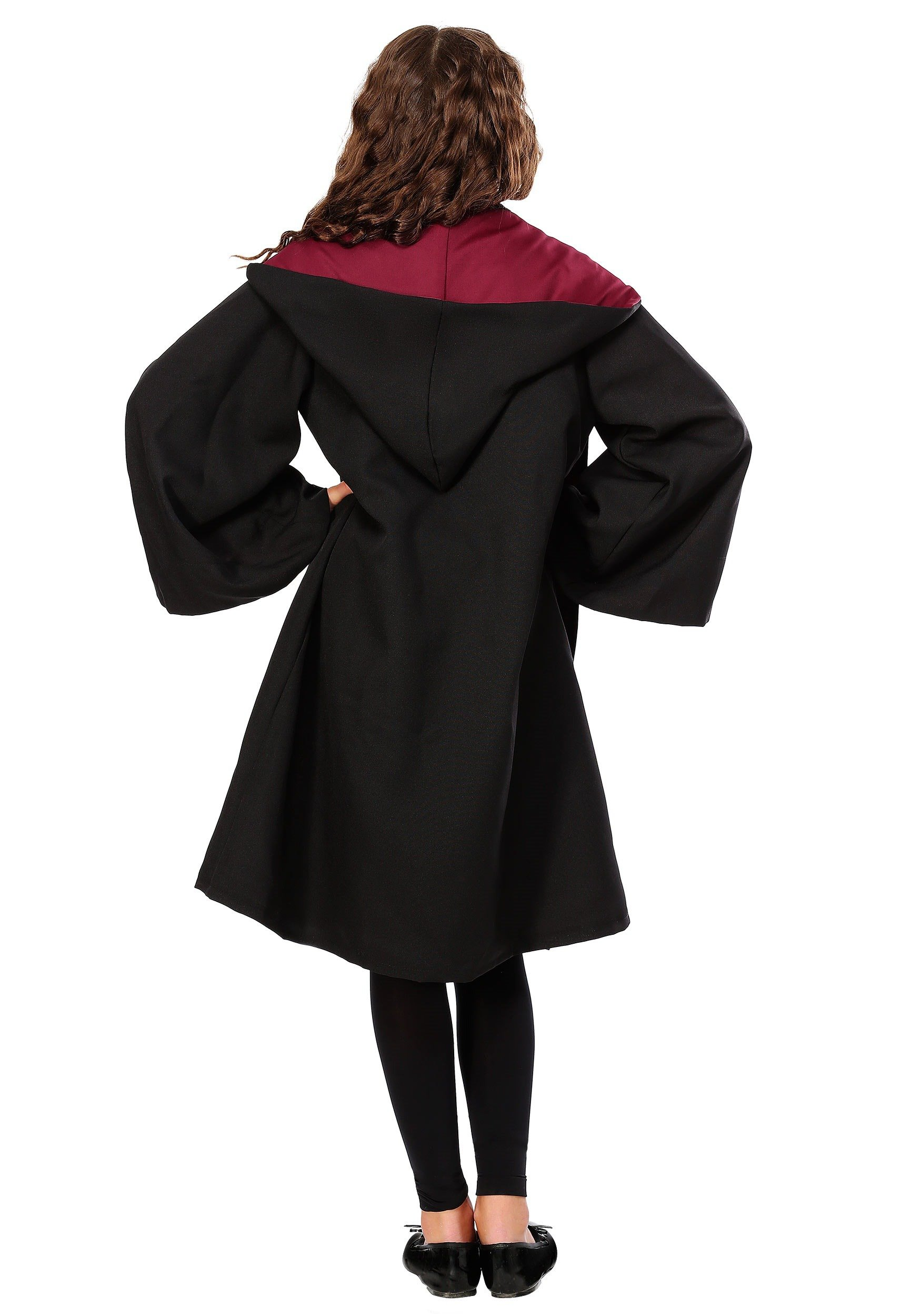 Girls Deluxe Hermione Granger Uniform and Robe Costume - XS by Charades (Image #4)