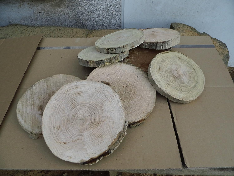 35 x 3 cm teilweise ohne Rinde Holzscheibe Baumscheibe Eiche