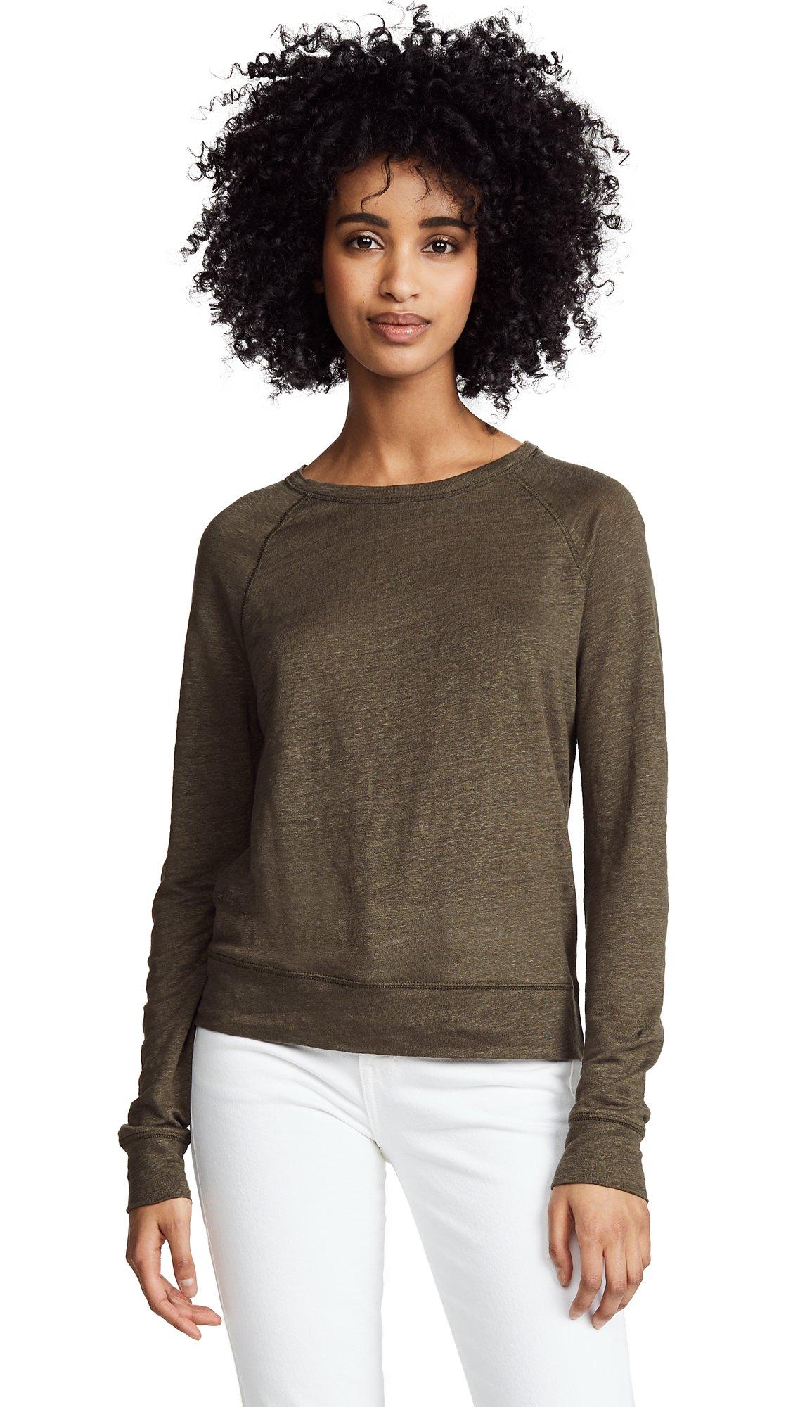 Vince Women's Raglan Pullover, Bayleaf, Large