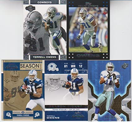 Terrell Owens 5 Card Lot SPX at Amazon s Sports Collectibles Store 1e6ee32fc