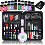 Sewing Kit Kasimir 142 Professional Premium Sewing Accessories with Extra 40 Pins and 10 Safety Pins Compact Potable Travel Emergency Sewing Supplies for Kids Adults Beginners