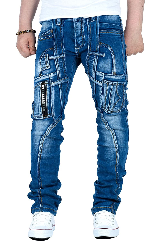 Reichstadt Jungen Kinder Jeans Biker Style Denim Hochwertig Wow 6-16 Jahre RS102