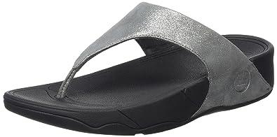 382f6898e0e8 Fitflop Women s Lulu Shimmersuede Open Toe Sandals  Amazon.co.uk ...
