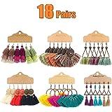 AROIC 18-20 Pairs Fashion Colorful Earrings Set with Tassel Earrings or Bohemian Earrings for Women Girls Jewelry…