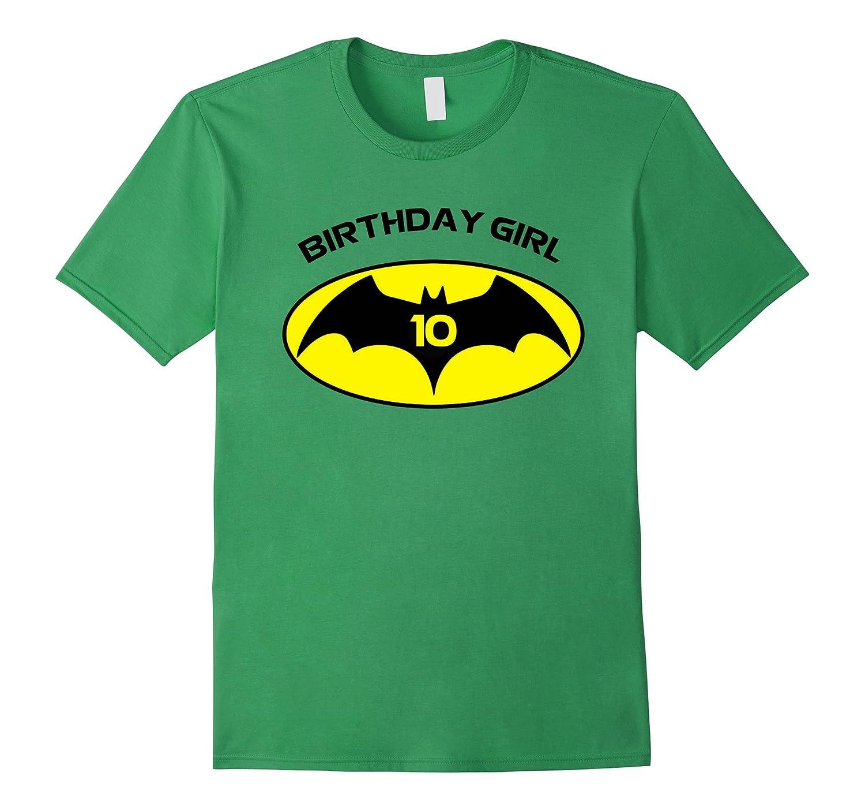 10th Birthday Bat Logo Superhero T Shirt-Art