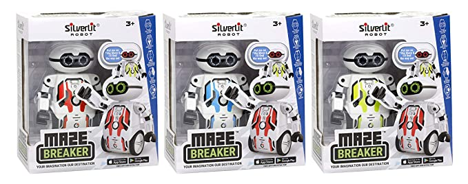 Silverlit Maze Breaker , Put it on The Maze(Included) & it Will find The Way Out - an Inspiring Robot That enhances Kids