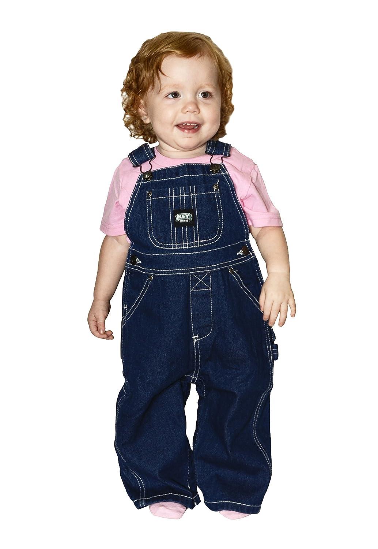 Key Baby Boys Premium Soft Washed Denim Bib Overalls