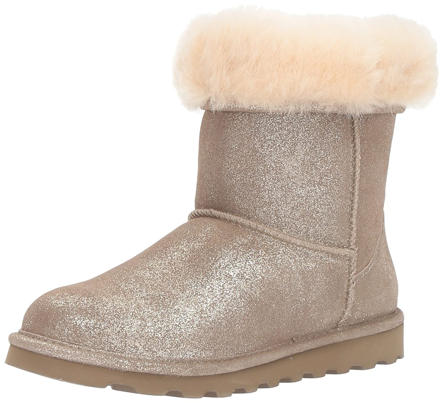 BEARPAW Women's Elle Short Winter Boot B06XRP1BCH 10 B(M) US|Pewter Distressed