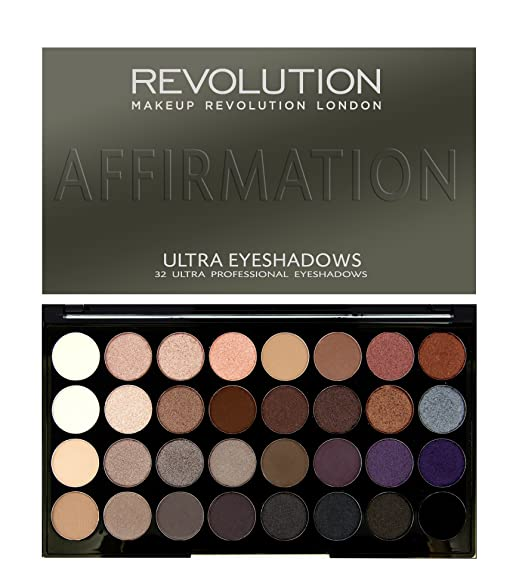 5 opinioni per Makeup Revolution London Ultra 32 Shade Eyeshadow Palette AFFIRMATION by Makeup