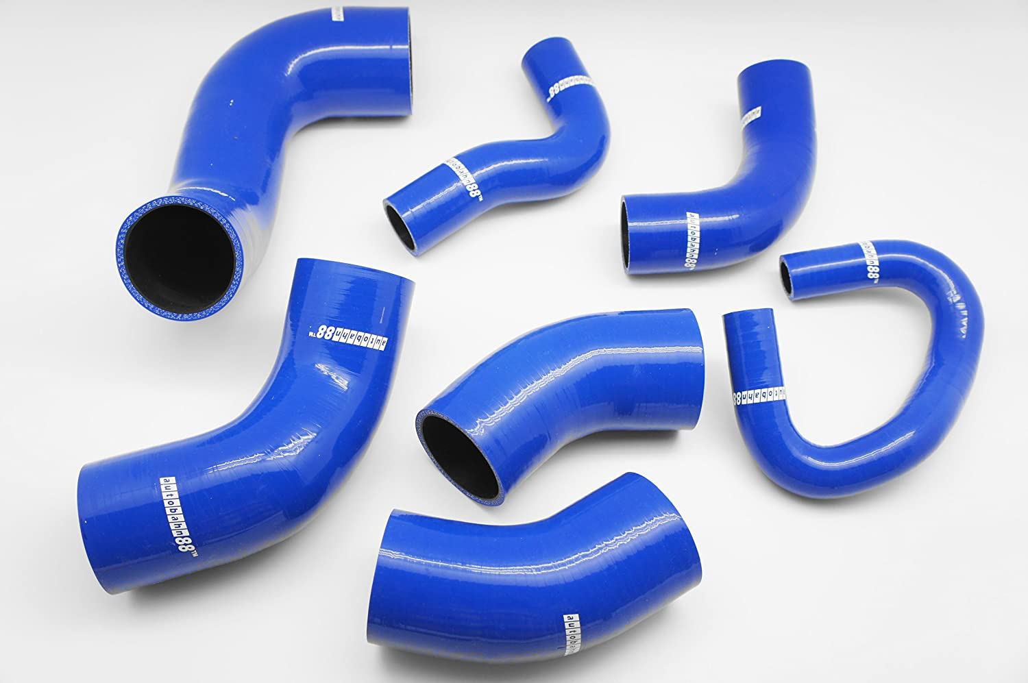 Red -with Clamp Set Autobahn88 Air Intake Silicone Hose Kit fits for 1992-1996 Mitsubishi Lancer Evolution EVO 1 2 3 CD9A CE9A 4G63