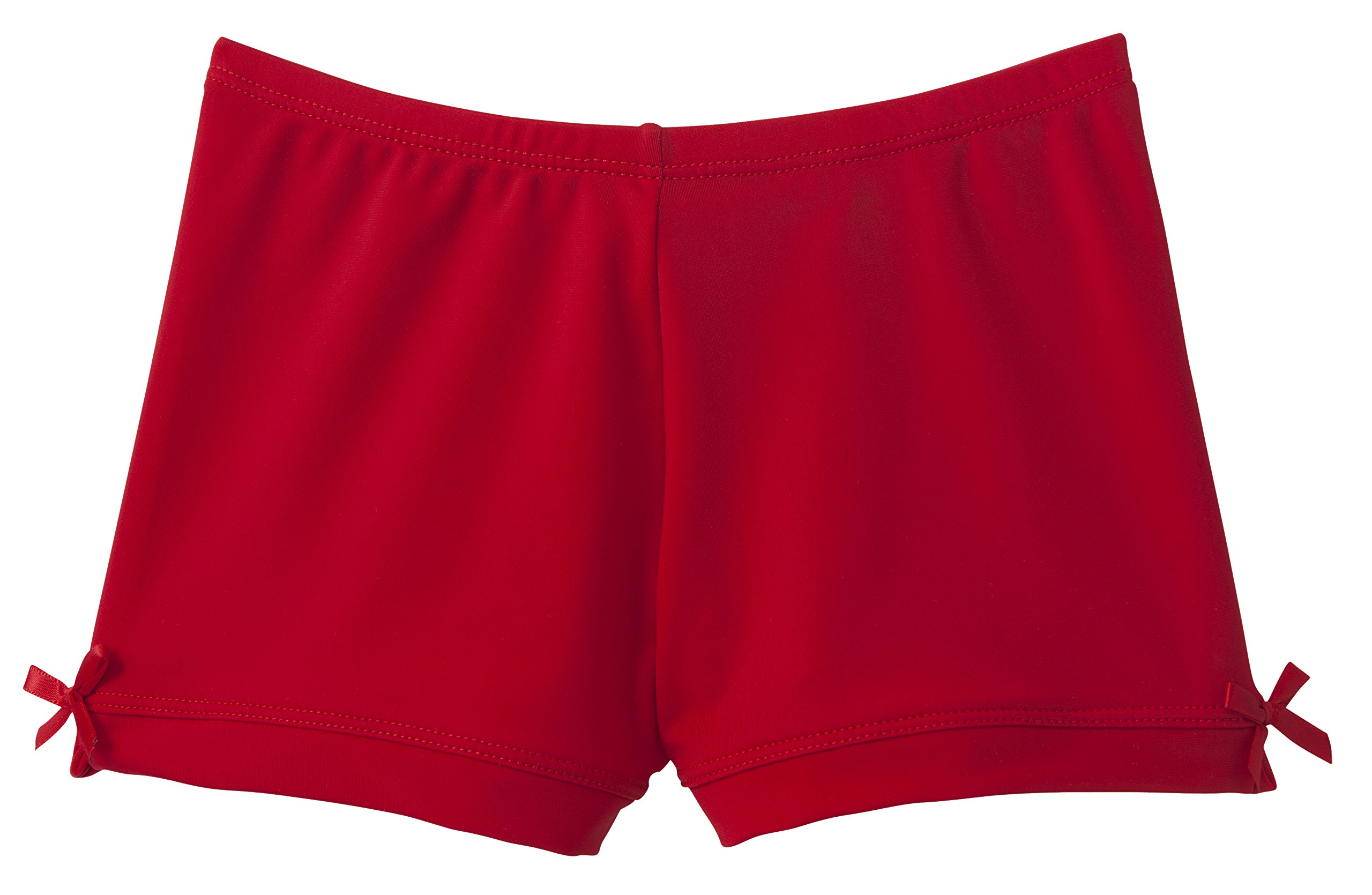 Monkeybar Buddies Worry-Free Girl's Playground Shorts, Nylon and Spandex Blend, Size 4T, Red by Monkeybar Buddies