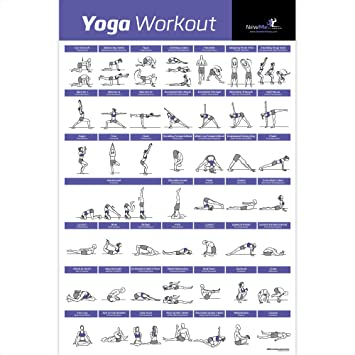Yoga Pose Exercise Poster Laminated